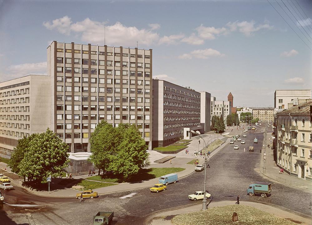 ミンスクのソビエト通り。1980年