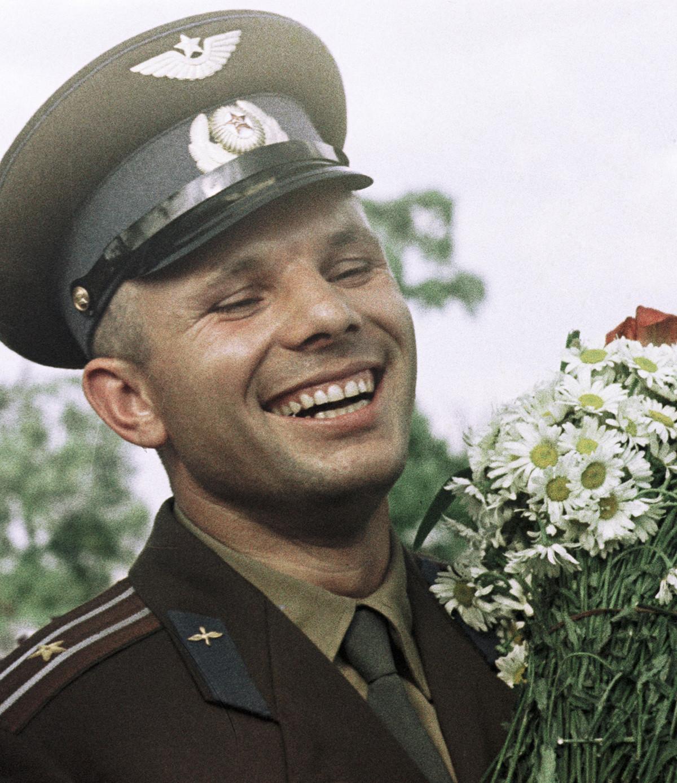 Soviet cosmonaut Yury Gagarin.