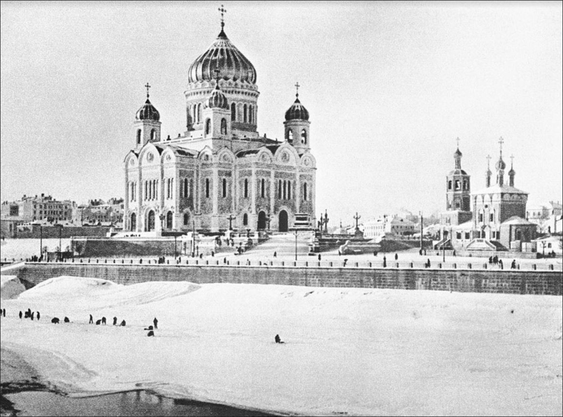 Naum Granovski. Katedrala Kristusa Odrešenika, zgrajena v čast zmagi nad Napoleonom leta 1812, 1927