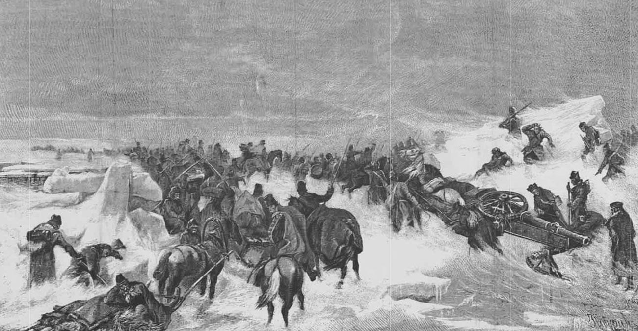 L'attraversamento dello stretto di Kvarken, 1809