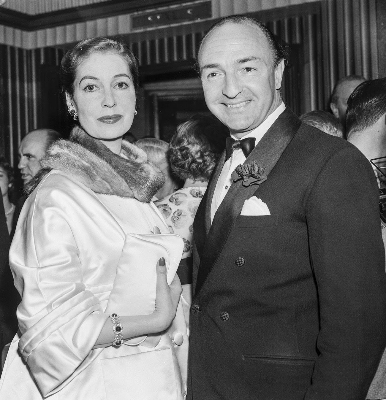 John Profumo et sa femme Valerie Hobson