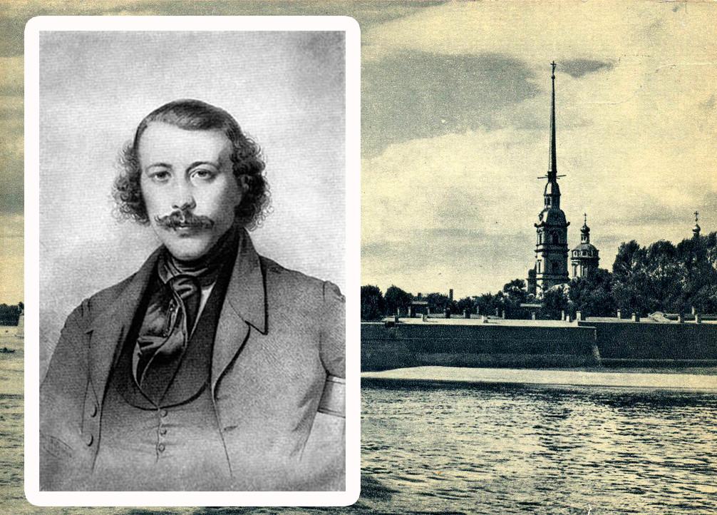 Portrait de Mikhaïl Bakounine par Heinrich Ditlev Mitreuter