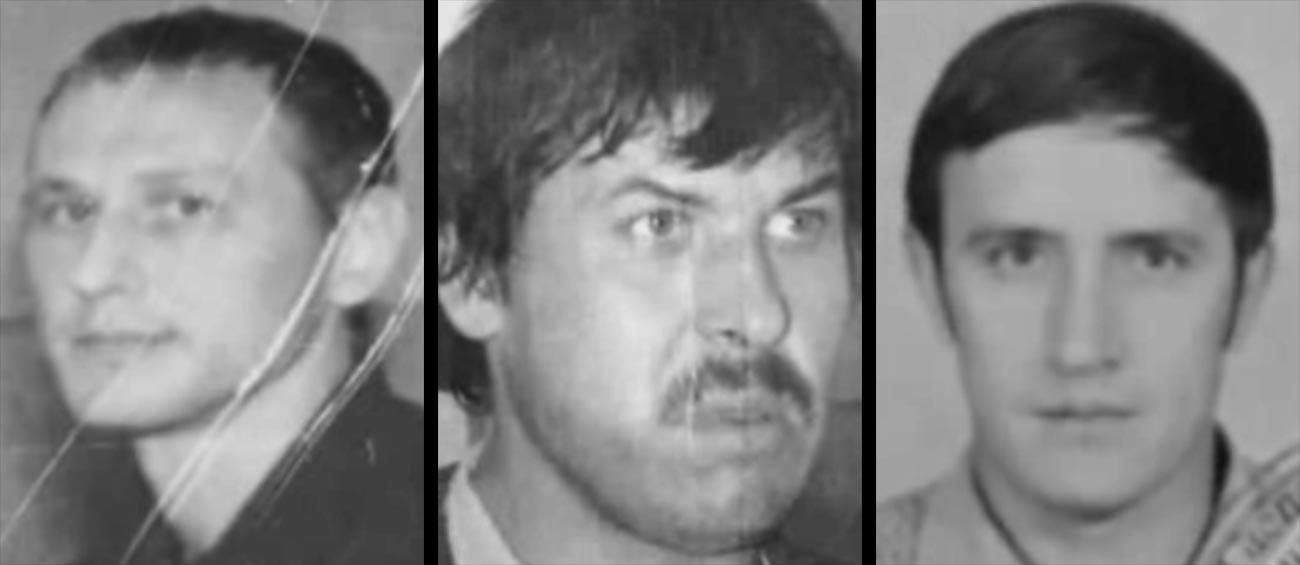 Viktor Mozhaev, Nikolaj Nemchin e Mikhail Solujanov