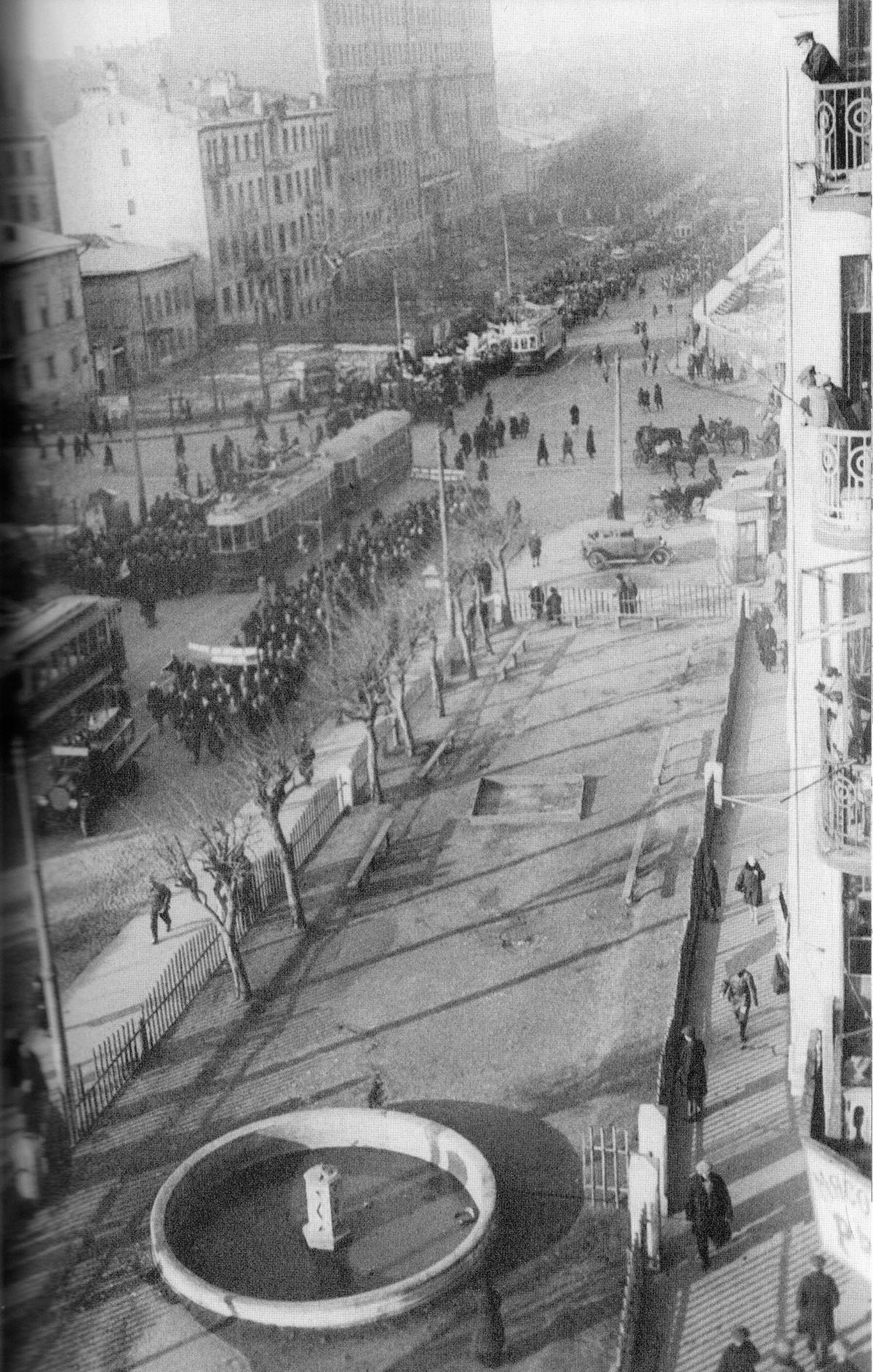 Mosca in una foto scattata da Ilja Ilf
