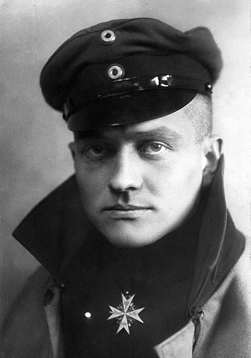 Manfred von Richthofen, el Barón Rojo (1917).