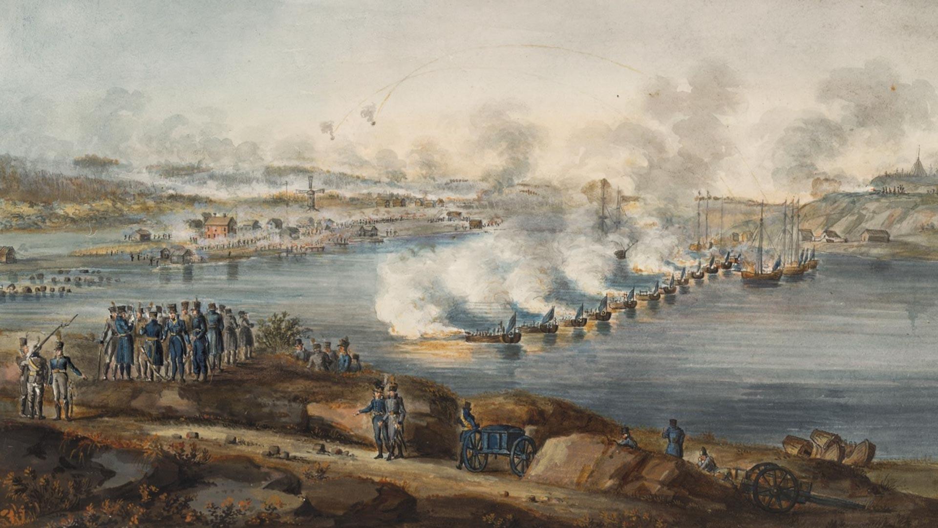 La batalla de Ratan en 1809.