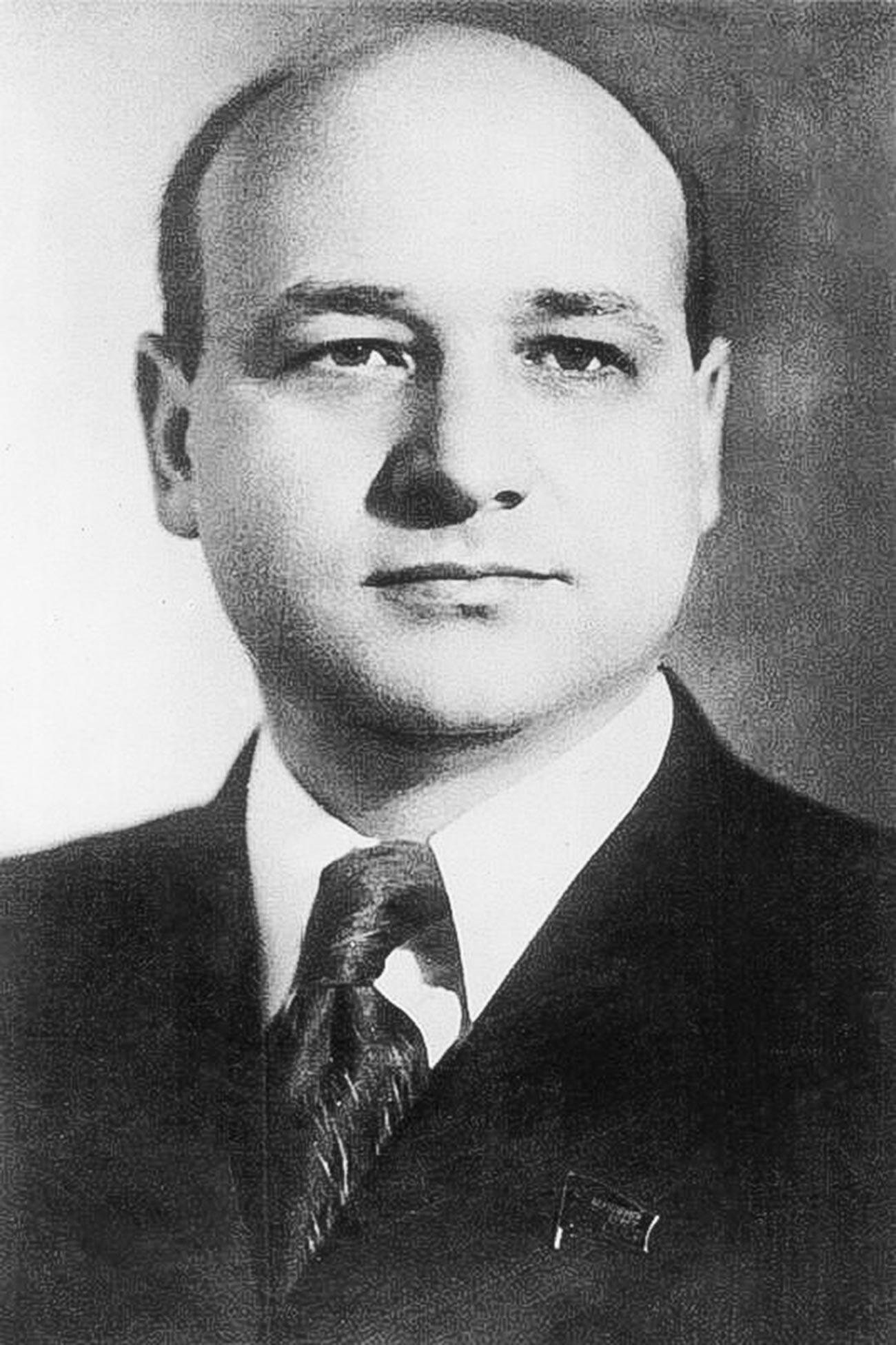 El ministro de Cultura de la URSS, Gueorgui Alexándrov.