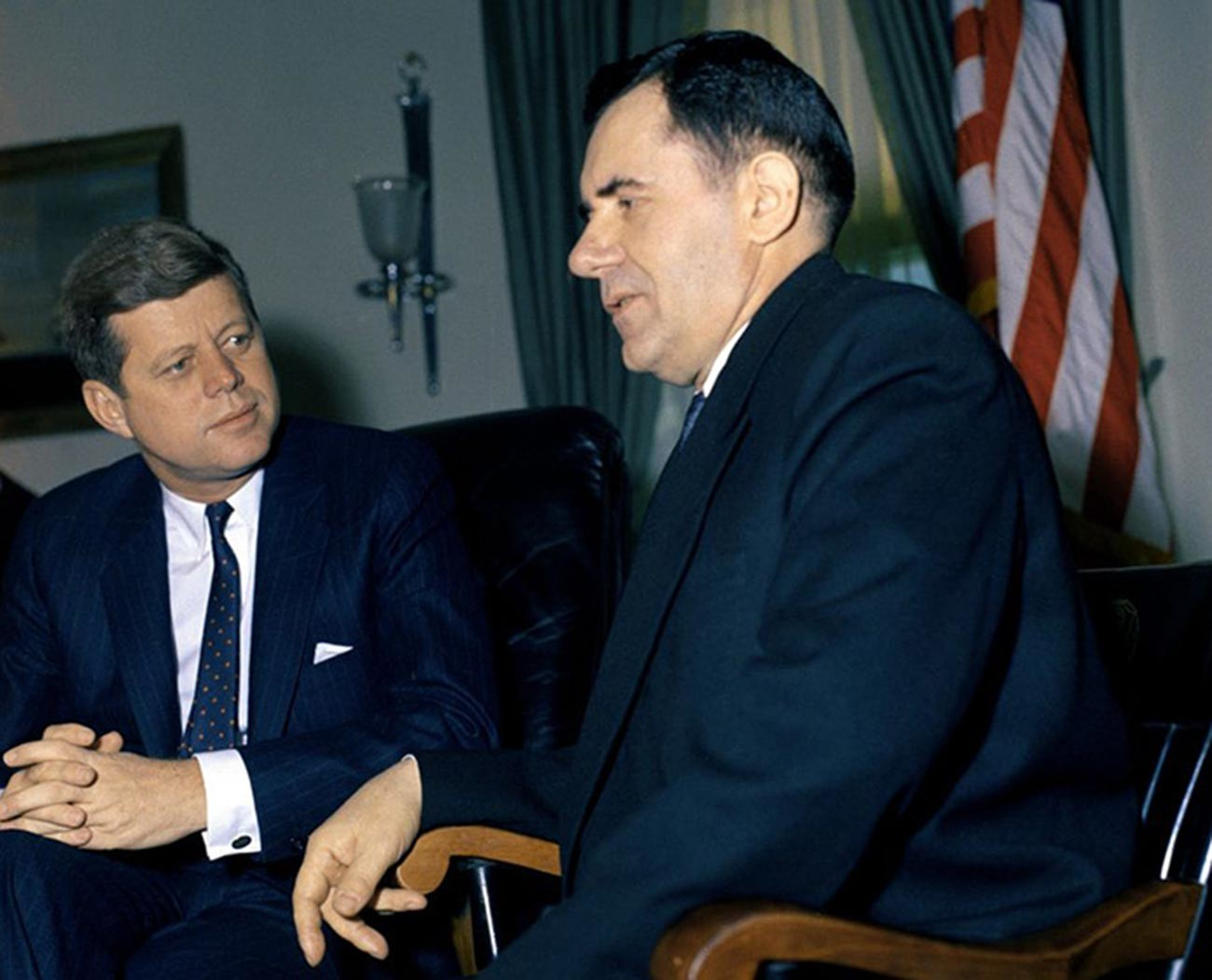 John Kennedy and Andrei Gromyko in the Oval Office at the White House in Washington D.C.
