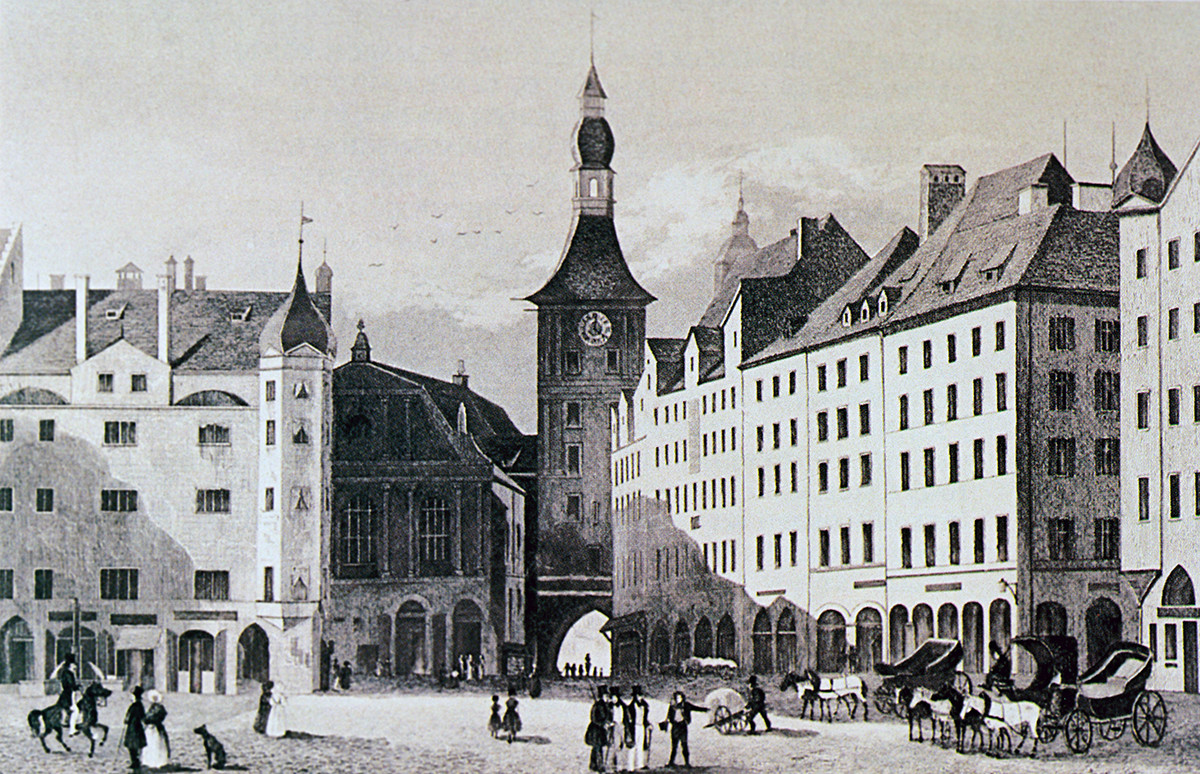 Munich, 1840. From the collection of Tyutchev's Museum-Reserve