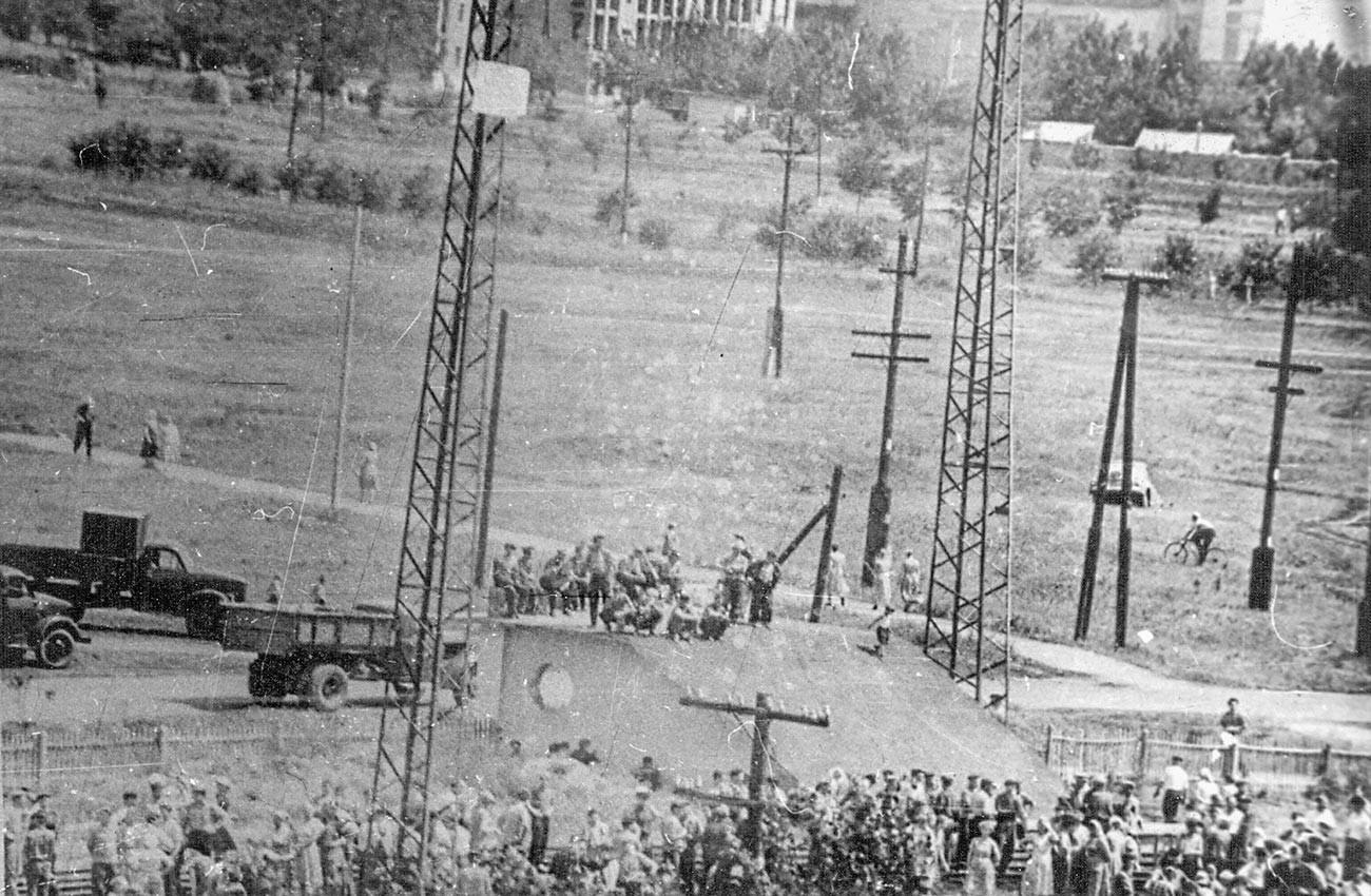 Una rara foto d'archivio dello sciopero del 1962