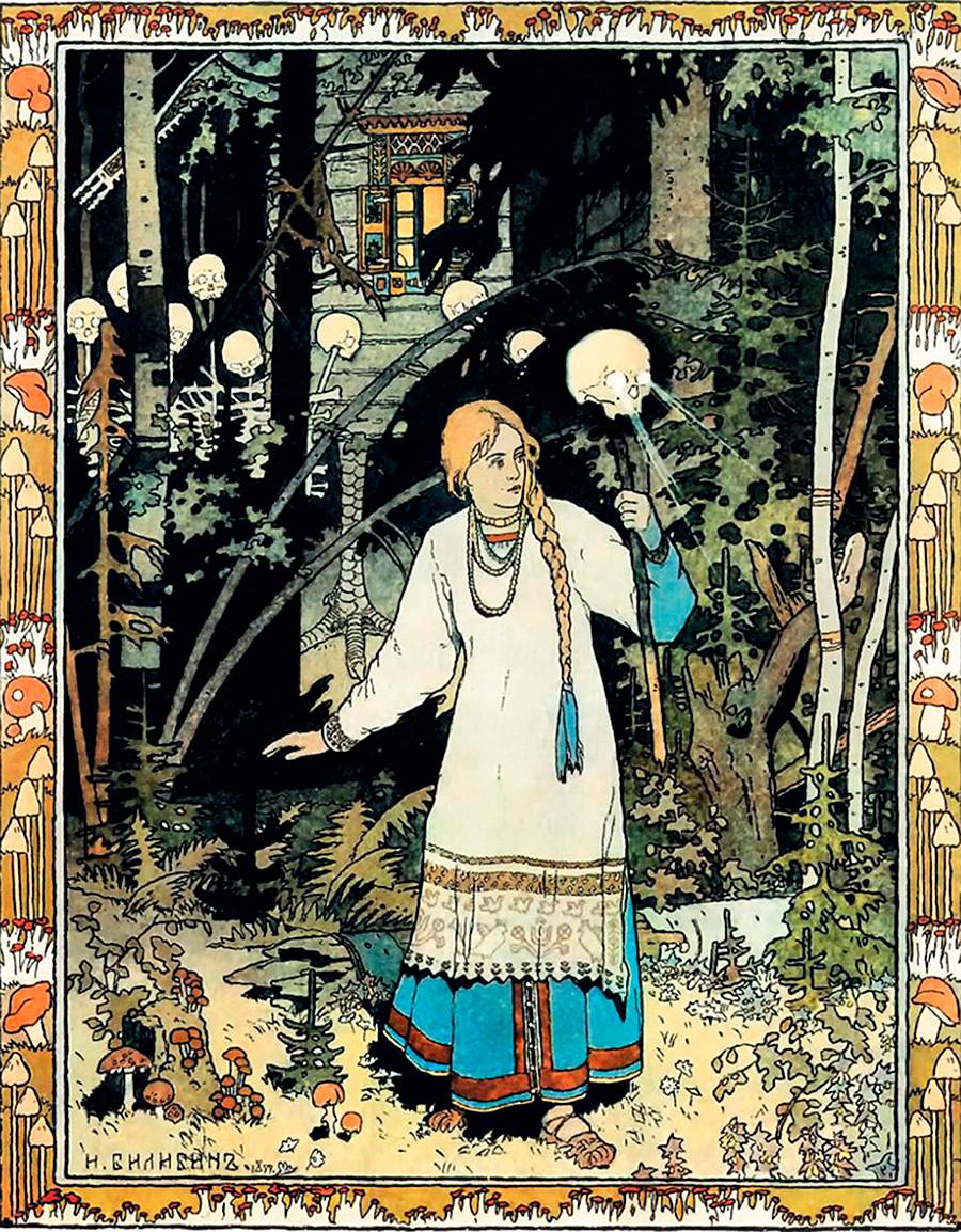 Illustration du conte Vassilissa-la-très-belle
