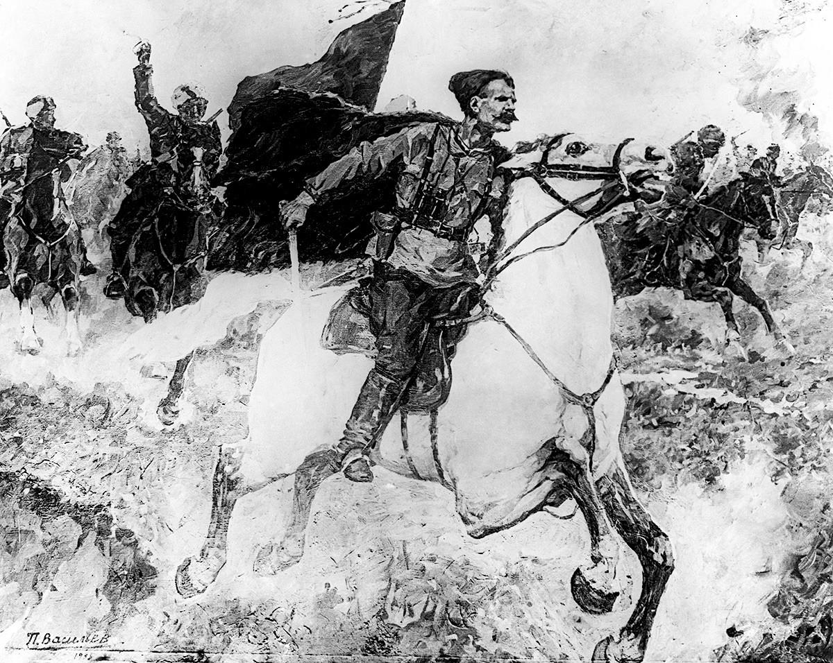 """Слика """"Чапајев у борби"""", 1937."""