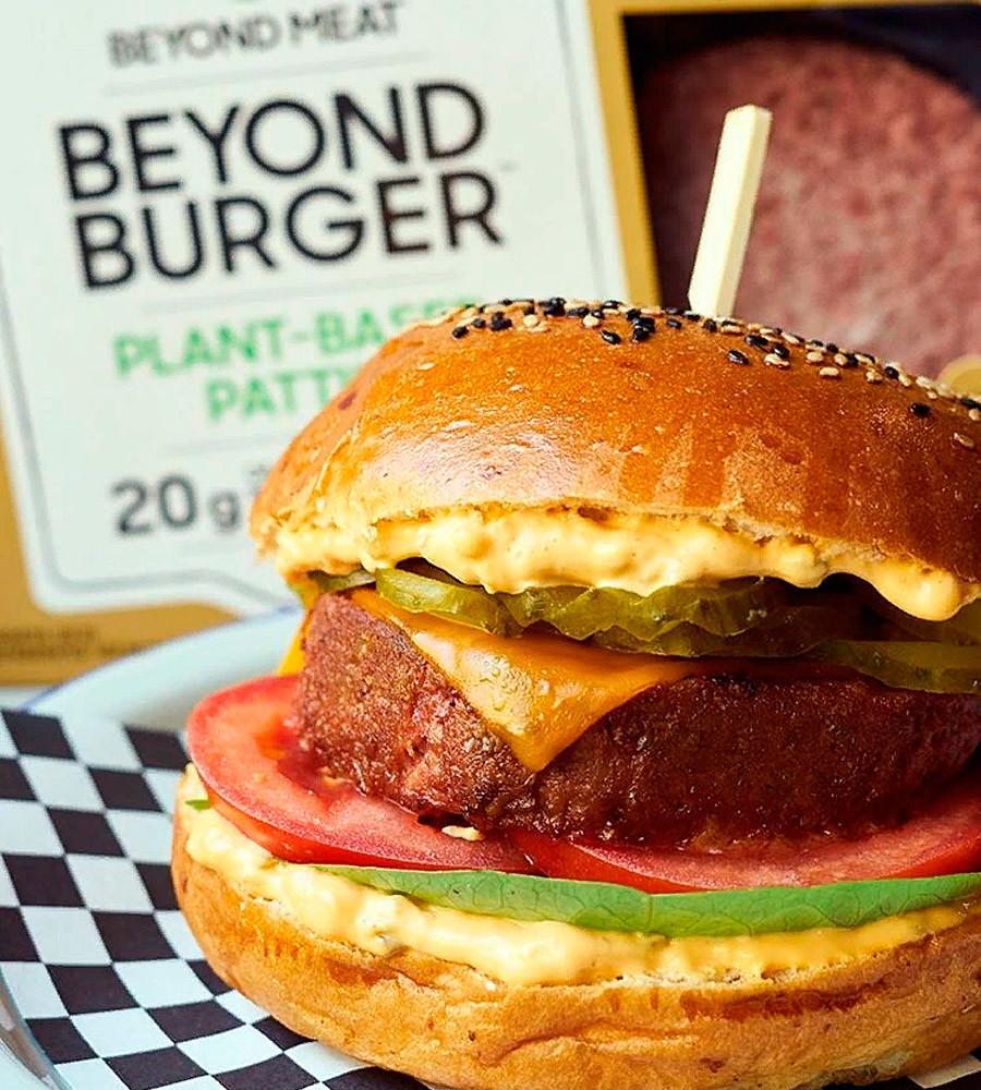 The vegan burger.