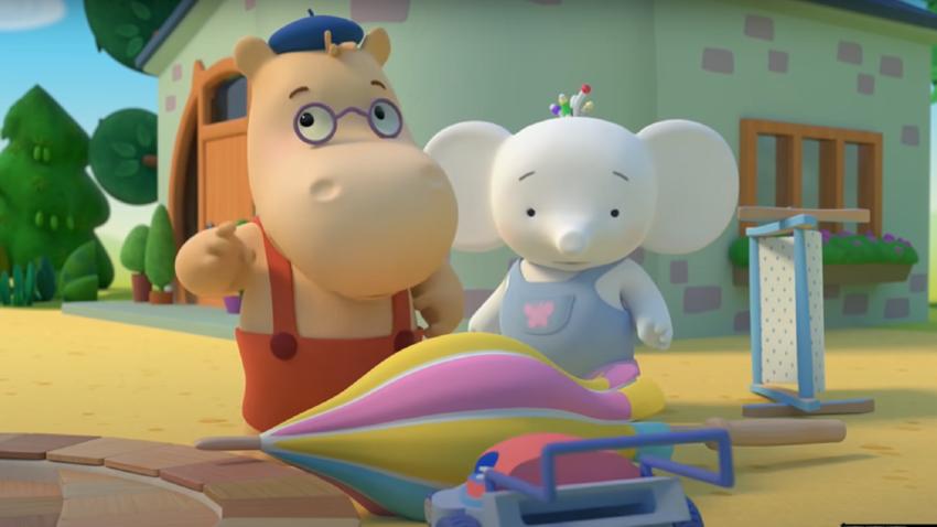 Cena de animação Tina e Tony
