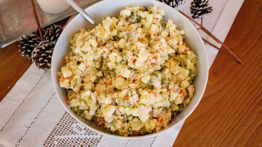 Olivier salad.