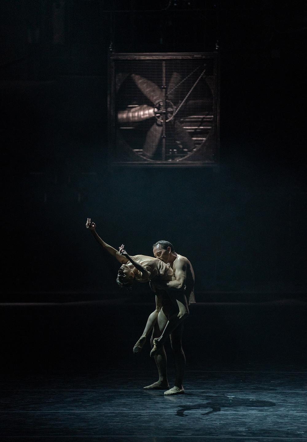 Anastasia Stashkevich, Vyacheslav Lopati in the ballet 'Just'.