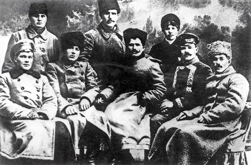 Vasily Chapayev (C) with Red Army commanders.