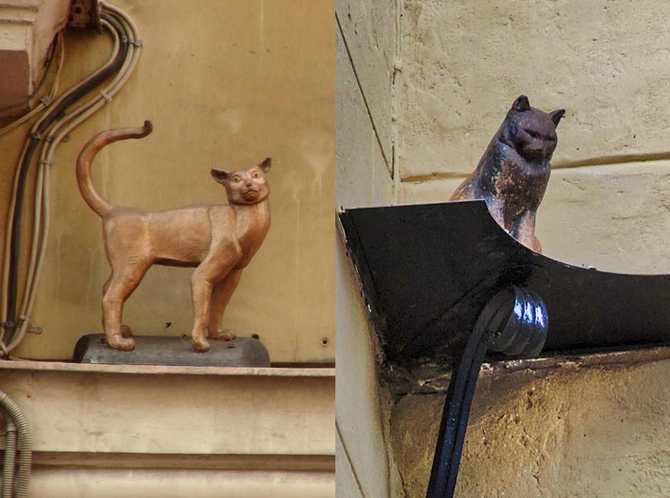 Кошка Василиса и кот Елисей.