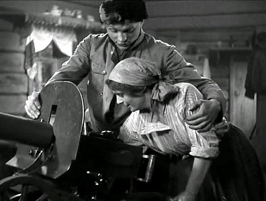 Scène du film Tchapaïev