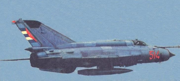 Un MiG-21bis cubano.
