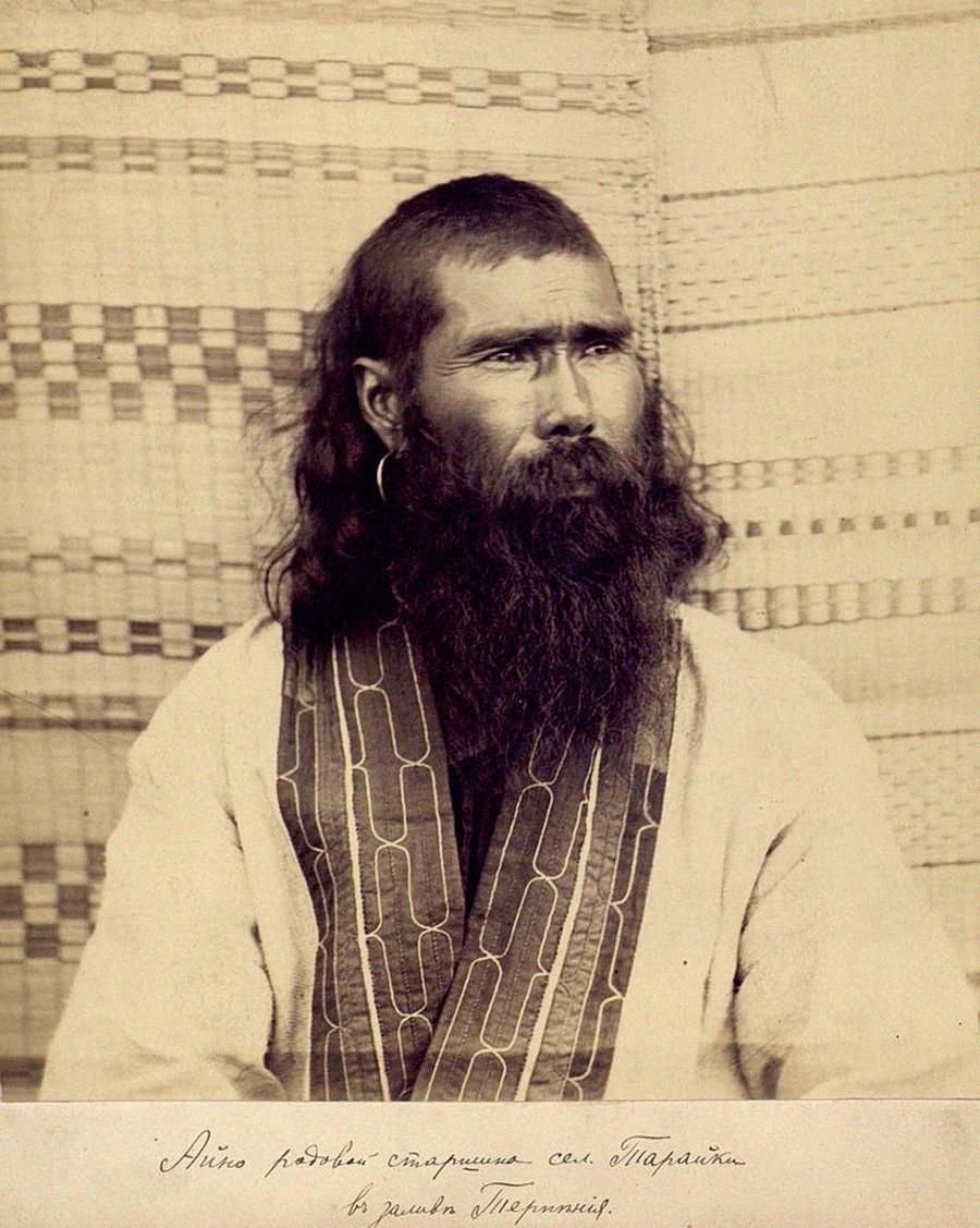 Припадник народа Ајни са острва Сахалин, крај 19. века