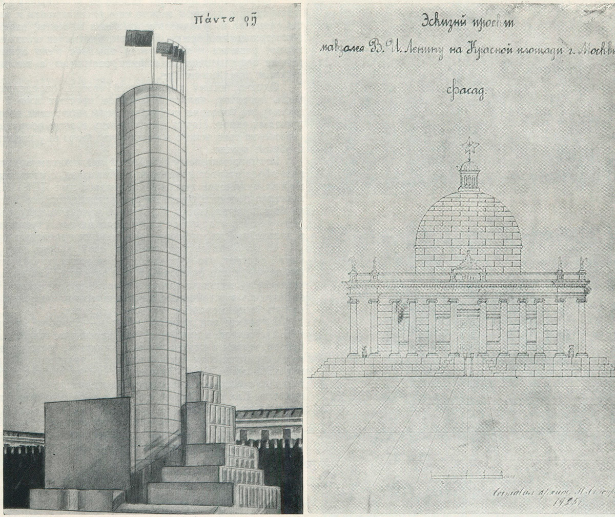 A sinistra, la torre di M. Rostovskij; a destra,
