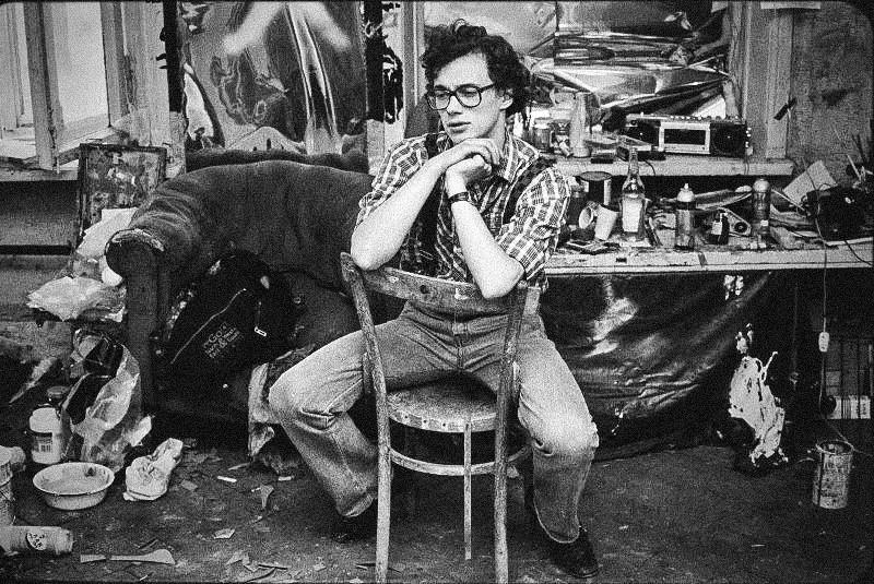 Le peintre Gouram Abramichvili, 1987