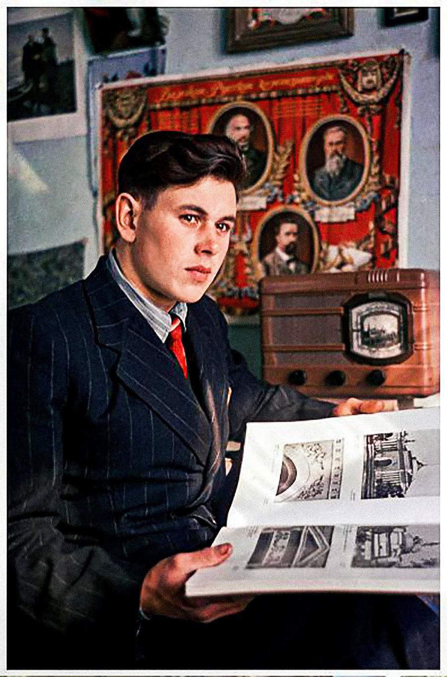 Jeune bâtisseur du canal Don-Volga, 1953