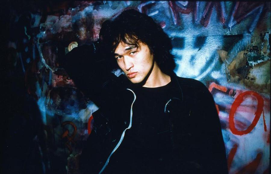 Cult rock musician Viktor Tsoi, 1986