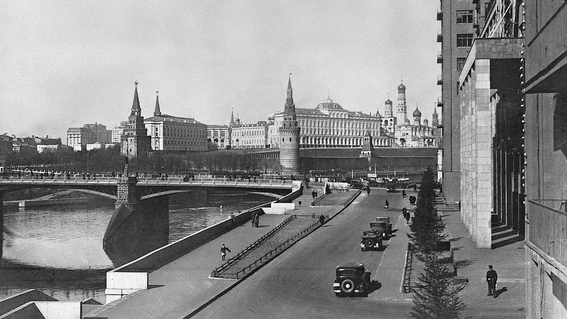 Blick auf die Große Stein-Brücke, Ende der 1930er Jahre