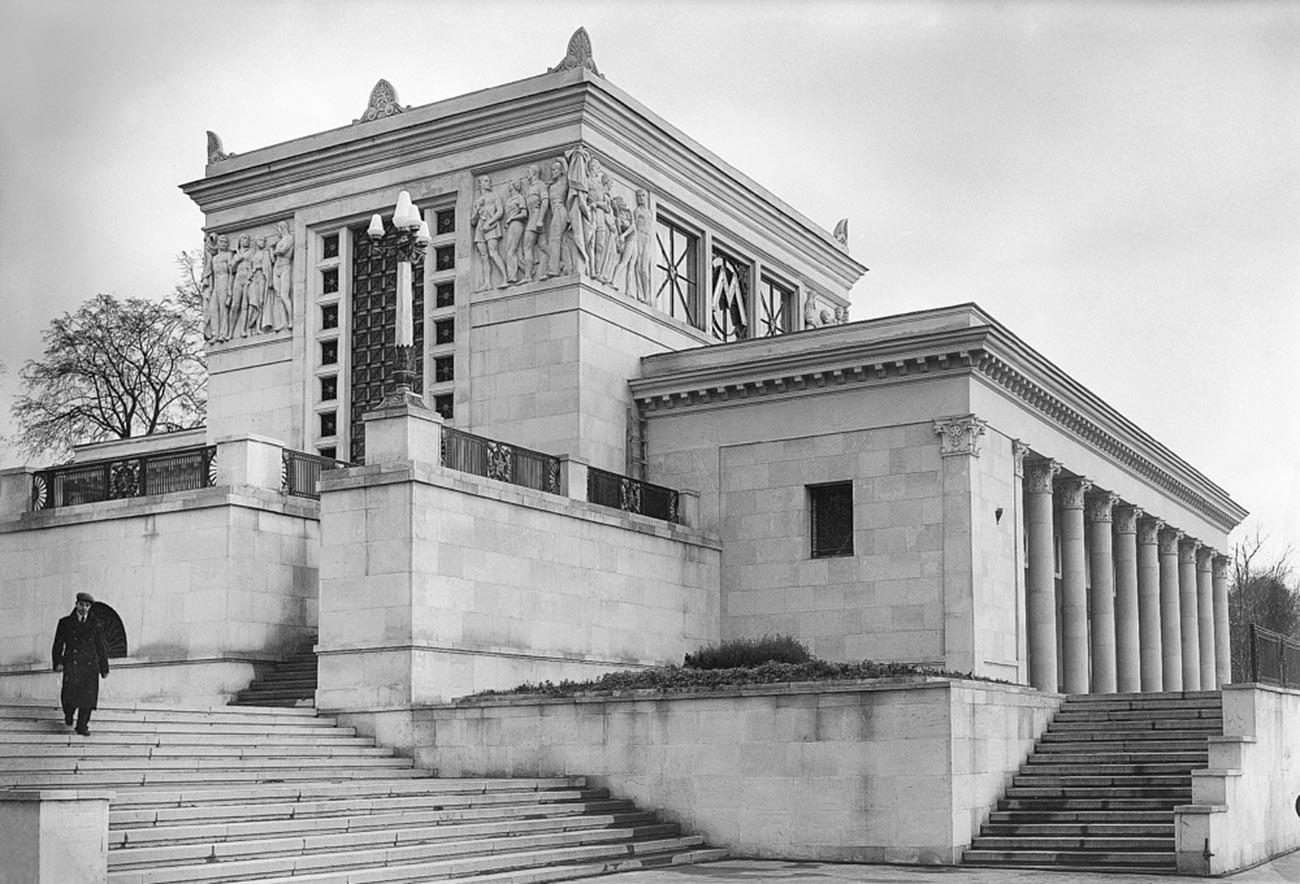 Eingang der Metrostation Dinamo,1930er Jahre