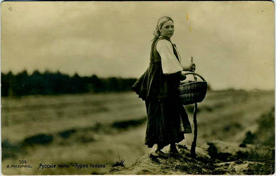 Ragazza russa, 1900 circa