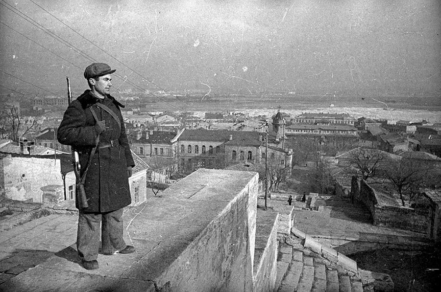 Ополченец в Крыму, 1940-е