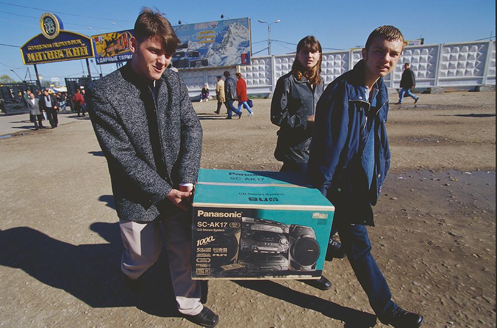 Tape stereo Barat pertama, Moskow, 1990-an.