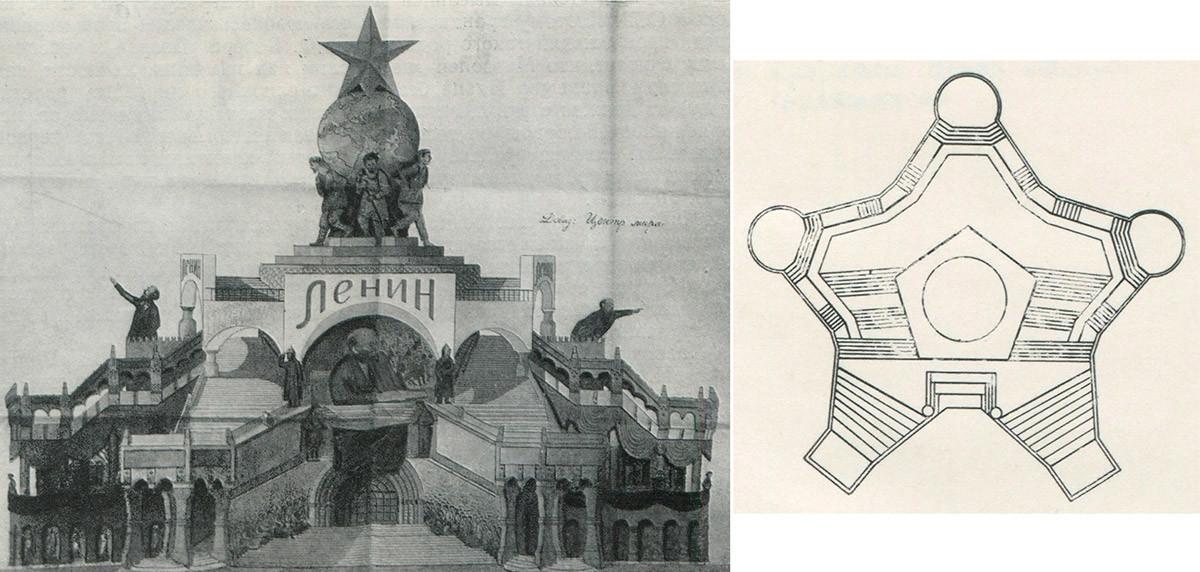 Ein Mausoleum-Projekt von N. Rjabow.