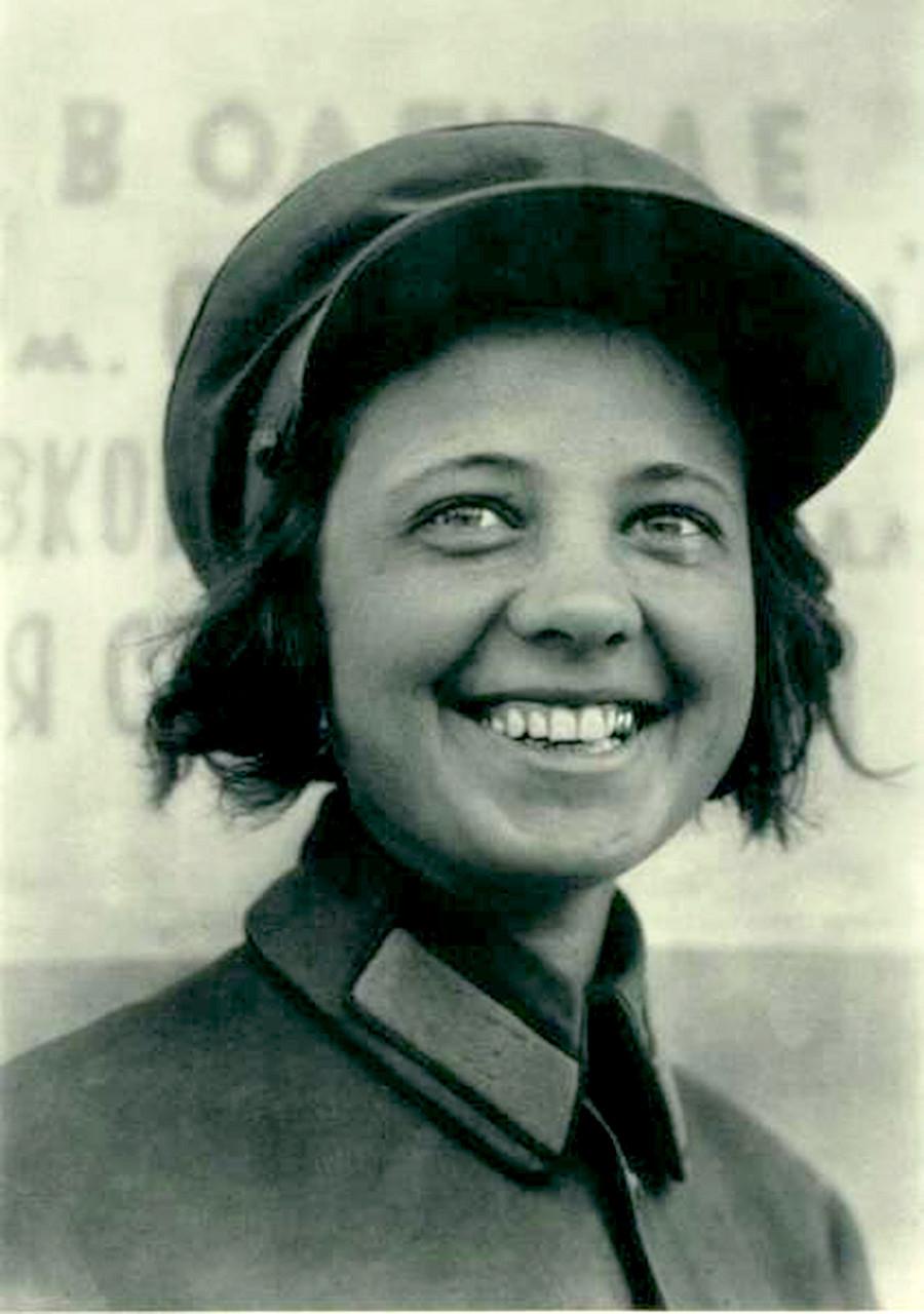 Conductrice de tramway à Moscou