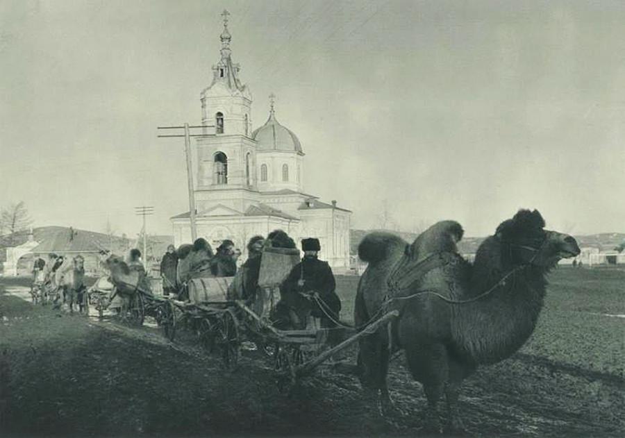 Aux portes de l'Asie. Village de Magnitnaïa (aujourd'hui Magnitogorsk, dans le Sud de l'Oural)