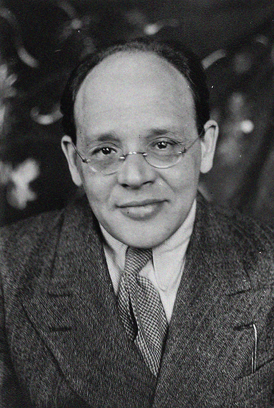 The author of 'Red Cavalry' Isaac Babel.