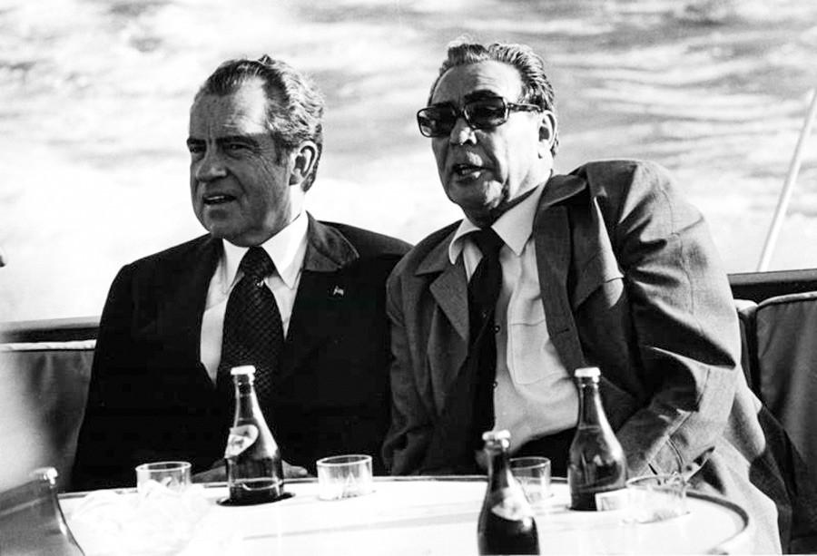 Reunión entre Richard Nixon y Leonid Brézhnev en EE UU, 1973.