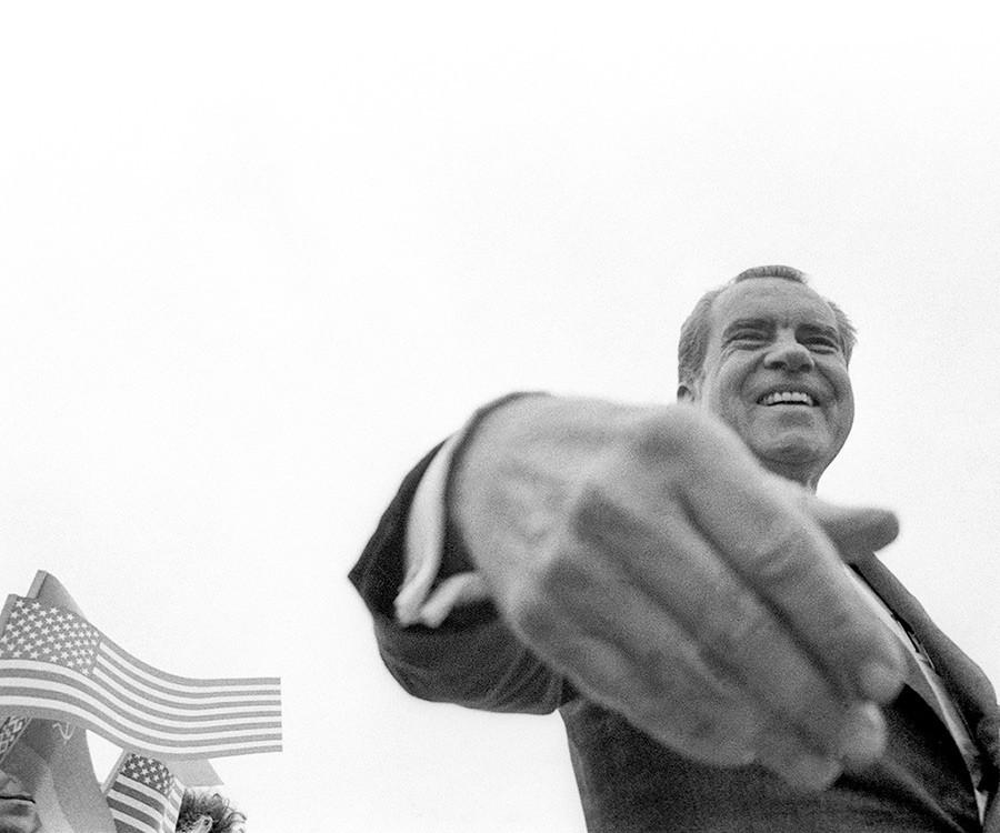 El presidente estadounidense Richard Nixon en Moscú, 28 de junio de 1974.