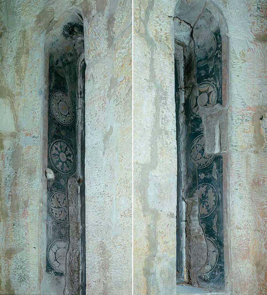 Des fragments des fresques de Roublev dans le cathédrale du Sauveur
