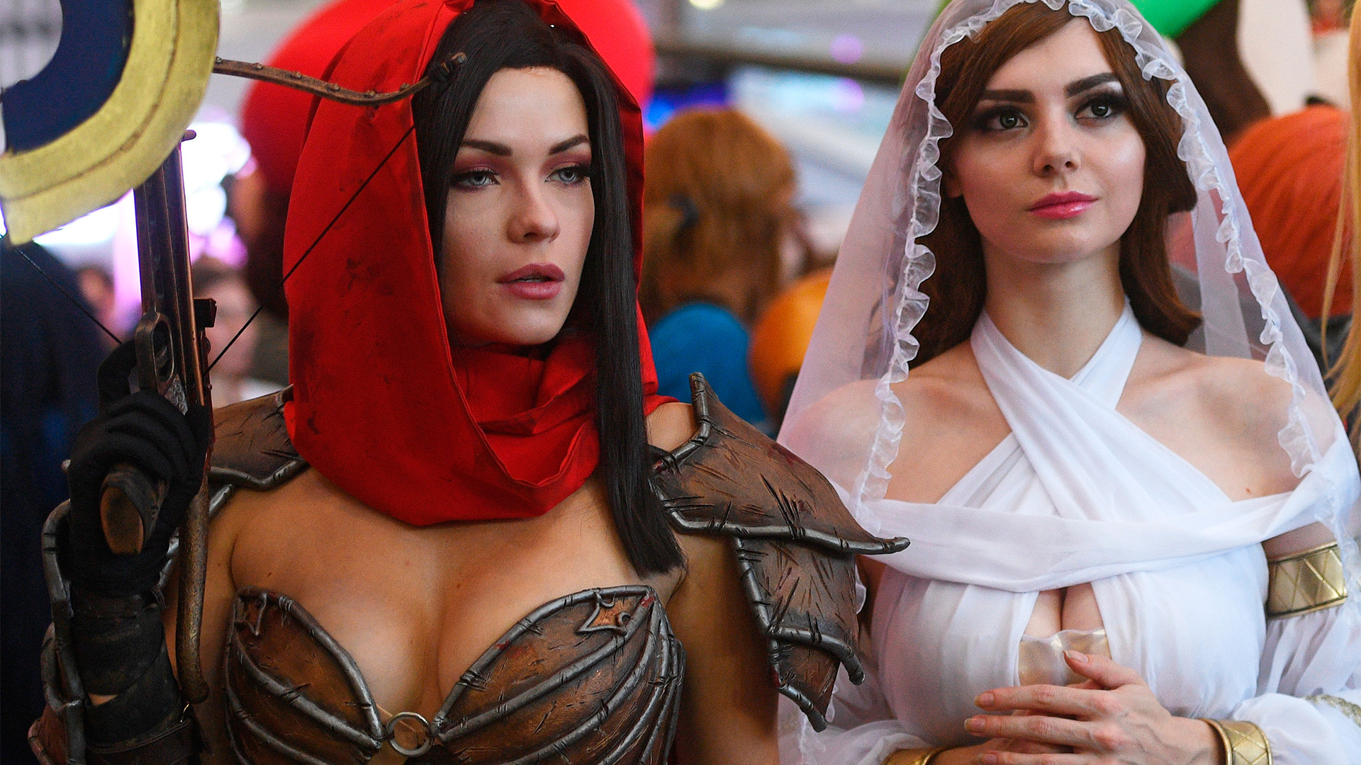 Participants of the Comic Con Russia 2018  in Moscow
