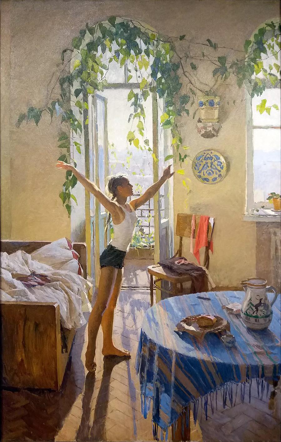 "Tatiana Iablónskaia. ""Manhã"", 1954."