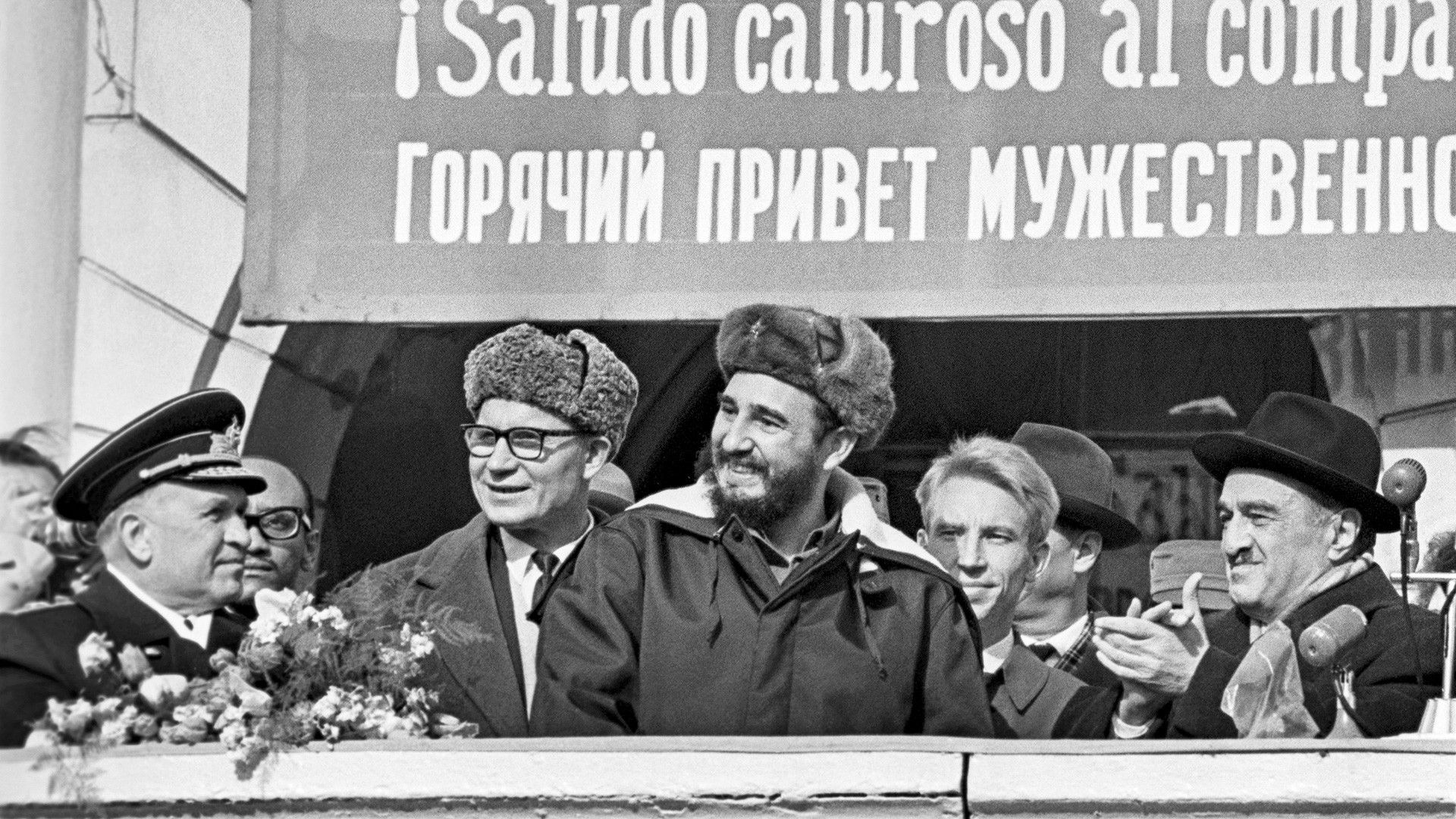 Fidel Castro's visit to the USSR, Murmansk, 1963