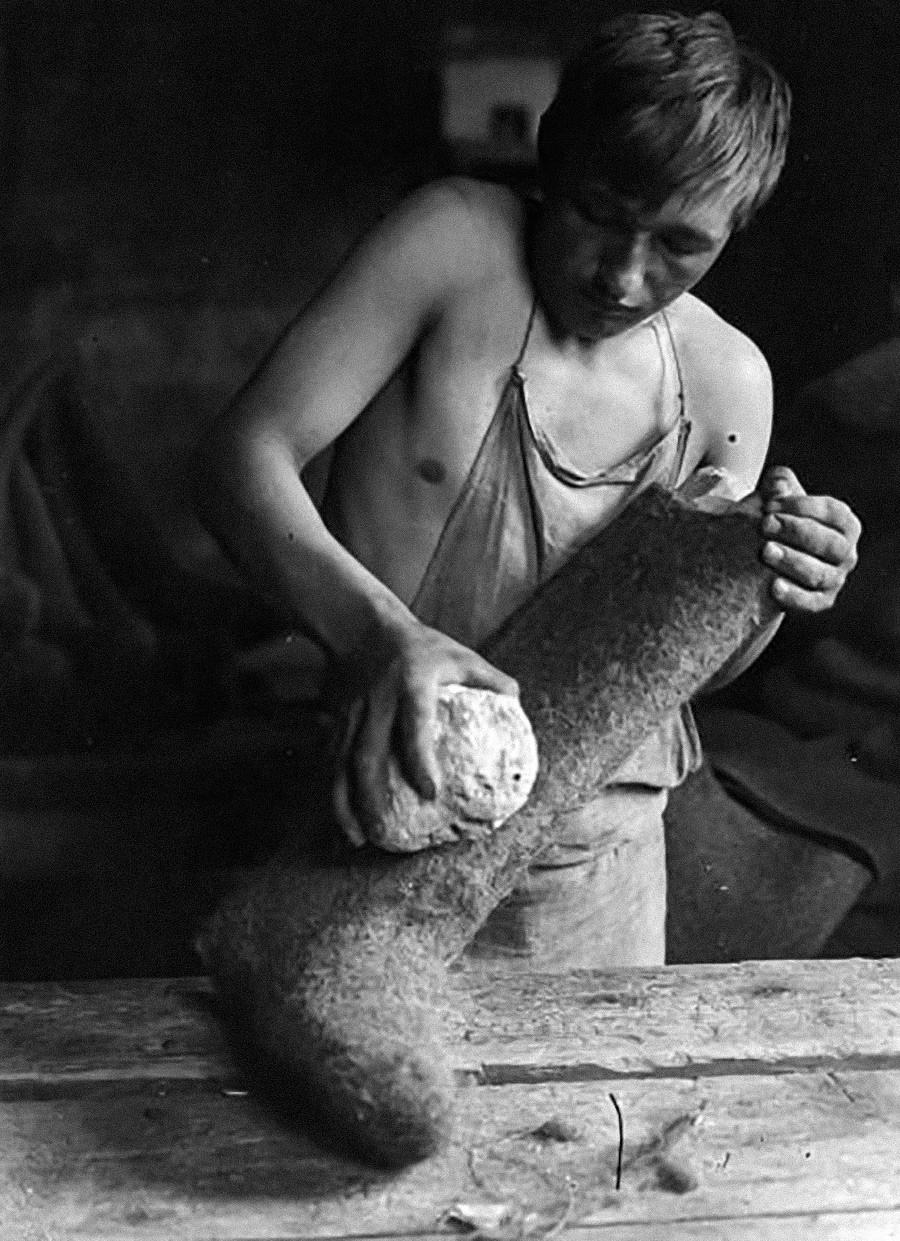 La etapa final requería el uso de piedra pómez