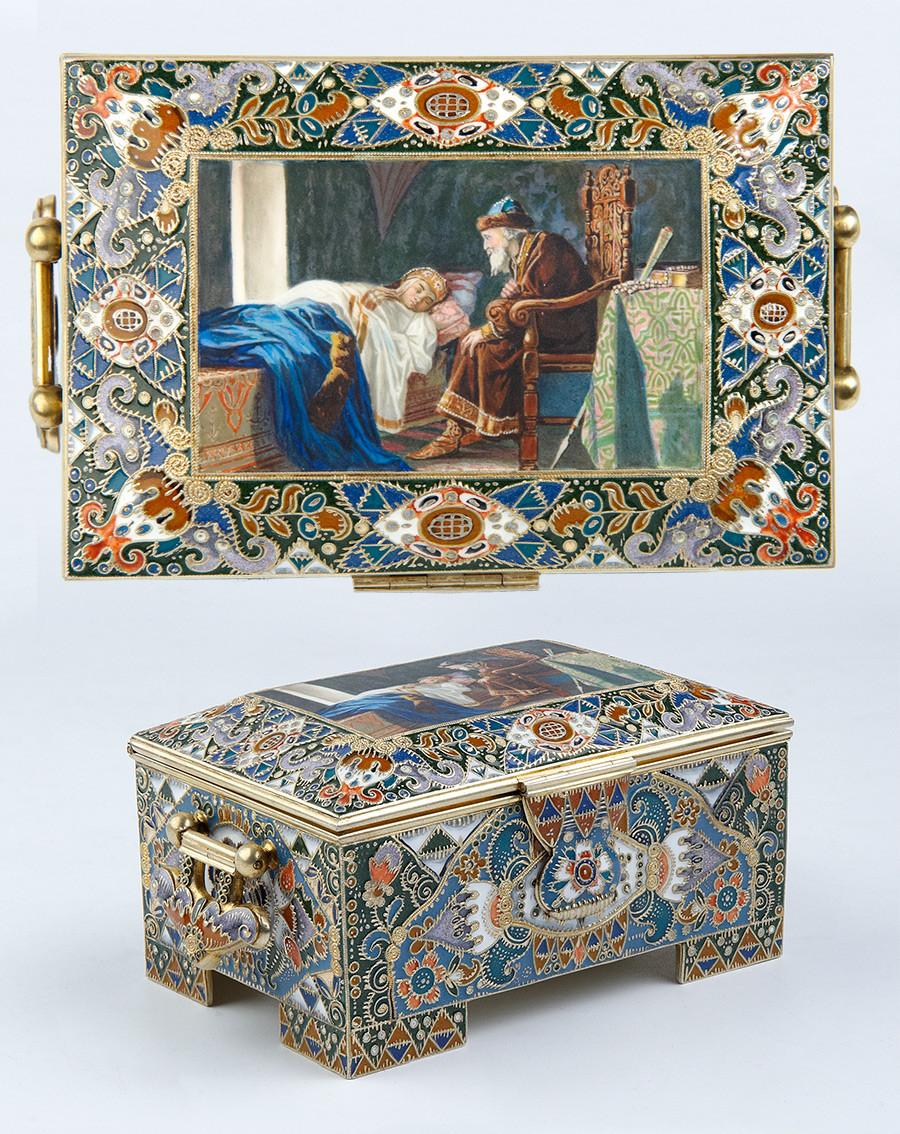 Coffret. Entreprise K. Fabergé