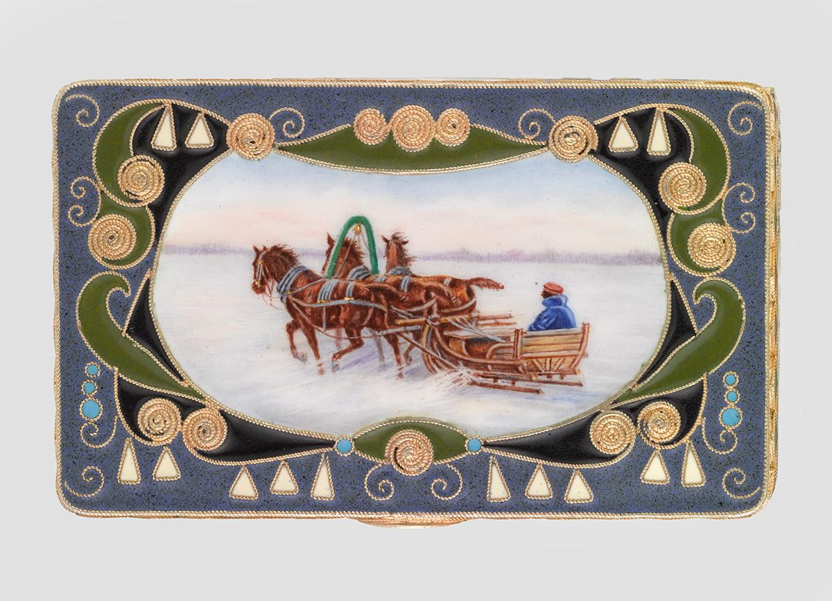 Boîte. Entreprise K. Fabergé