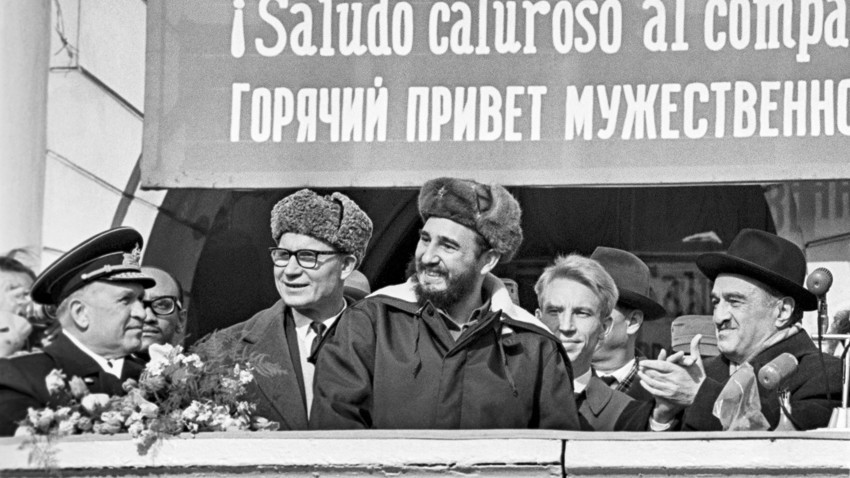 Visita de Fidel Castro à URSS, Murmansk, 1963