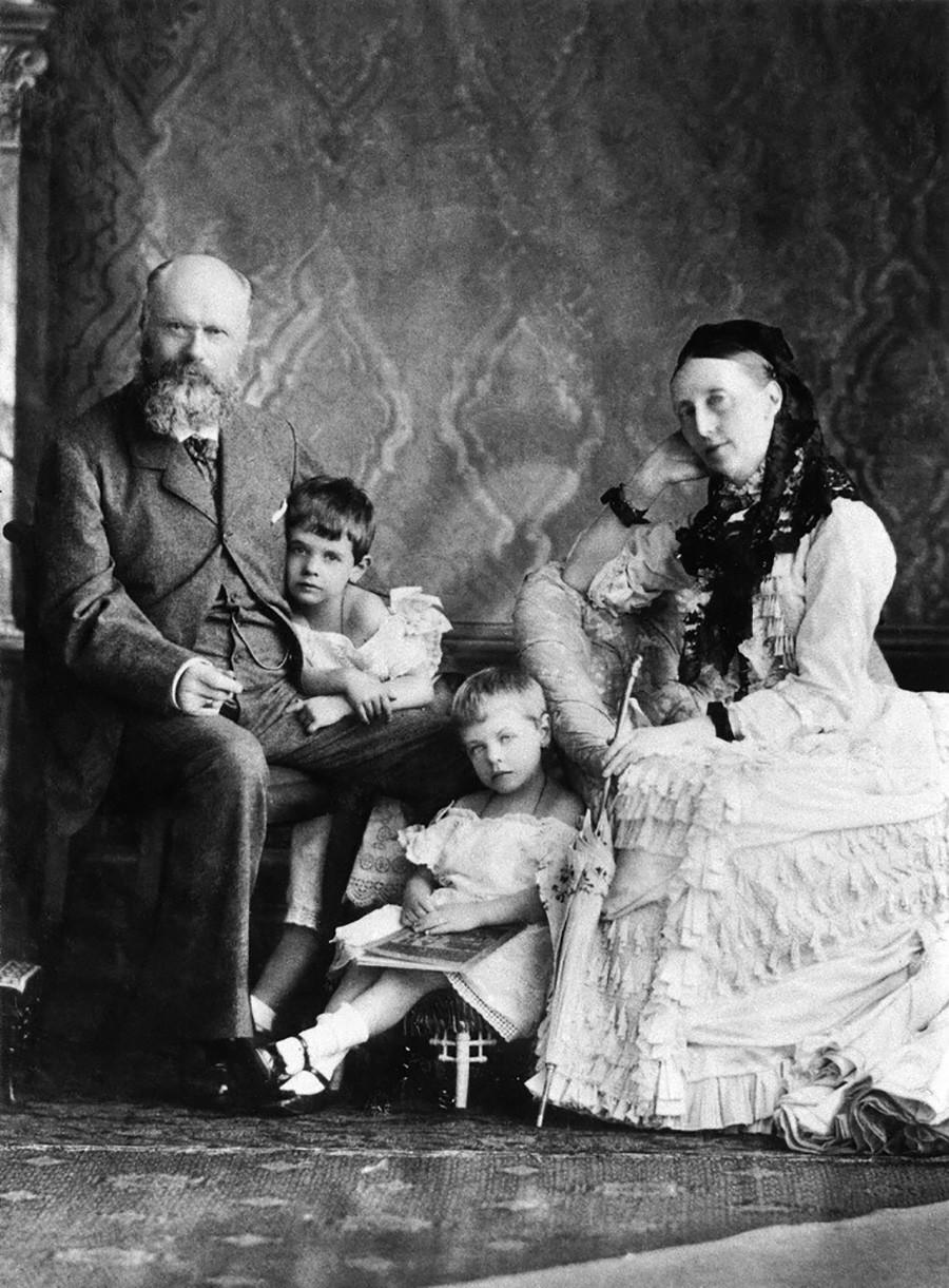 Olga, Karl e filhos de sua sobrinha Vera