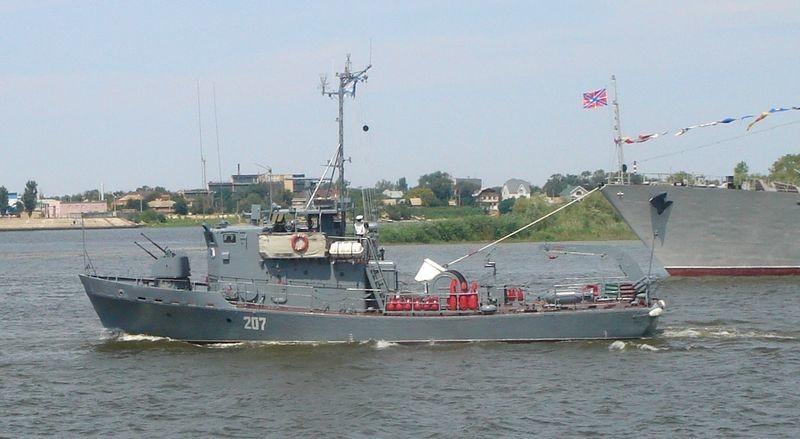 Un dragaminas del tipo 'Korund' perteneciente a la flotilla del Caspio.